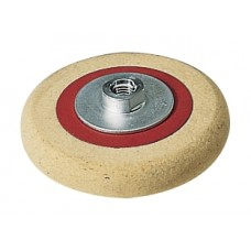 Backed fleece felt pad Flex with threaded flange M14 175 mm