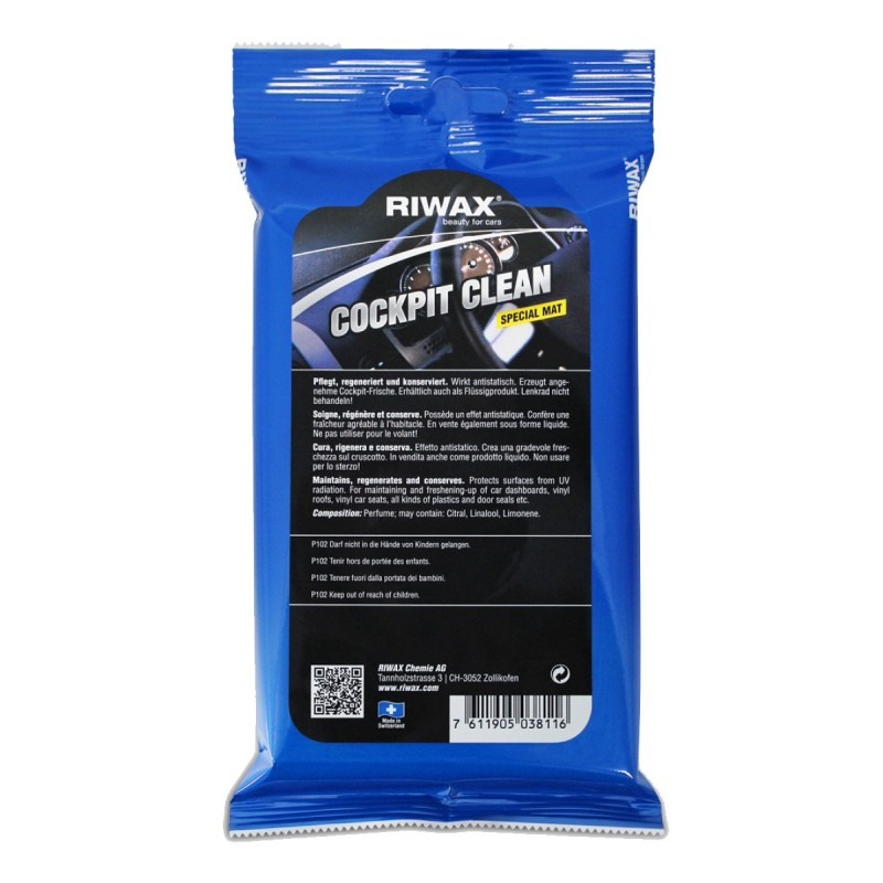 Cockpit clean wipes