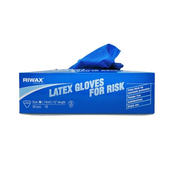 Latex gloves for car wash